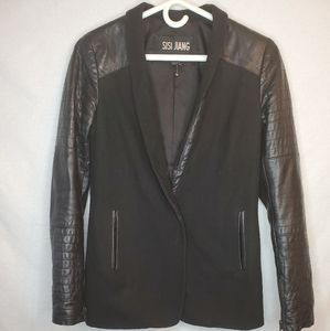 Danier Jacket with Leather embellishments & detail